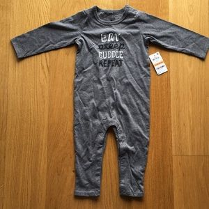 NWT first impression baby jumpsuit. Size 12 m